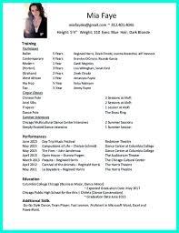 Beginners Cv Professional Dance Resume Resume For Your Job Application