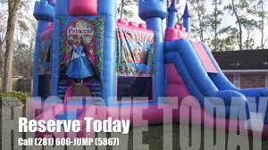 bounce house rentals houston princess deluxe castle bounce house rental in houston tx and