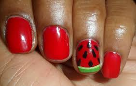 red n white nail art beautify themselves with sweet nails