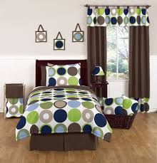 Jojo Design Bedding Modern Polka Dot Circle Geometric Blue Brown Bedding Full Queen