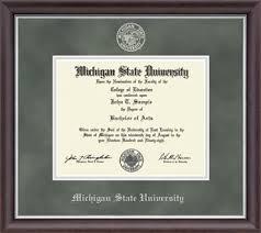 diploma frame michigan state diploma frame
