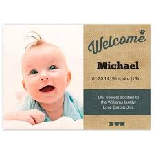 welcome birth announcements flat cards personalized cards photo