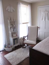 furniture white upholstered rocking chair nursery with arms with