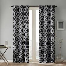decor black pattern macys curtains with gray wall and folding