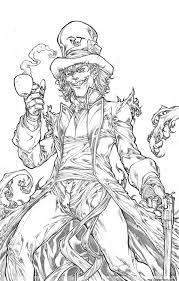 mad as a hatter alice in wonderland coloring pages online
