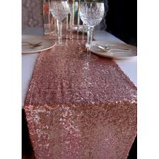 quasimoon sequin table runner copper rose gold 12 x 108 by