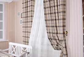 Green And White Gingham Curtains by Beige Gingham Curtains Cintinel Com