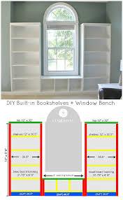 Bookshelf Seat Diy Built In Bookshelves Window Seat Sand And Sisal