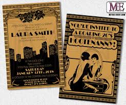 gatsby invitations 1920 s party gatsby invitations deco birthday flapper