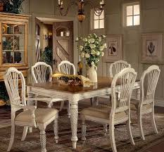 country dining room decor with ceramic pottery flower vases