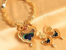 real gold necklace designs images Buy grand bridal designer real kundan peacock feather necklace JPG