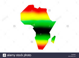 Africa Blank Map by An Outline Of The Map Of Africa In Pan African Colours On A White