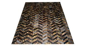 chevron hide rug metallic cowhide rugs pa leather corp