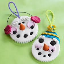 clay snowman ornament snowman