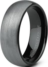 Men Wedding Rings by Tungary Jewelry Tungsten Rings For Men Wedding Band Black Ring 8mm