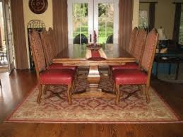 dining table with rug underneath what size rug to use for your dining room