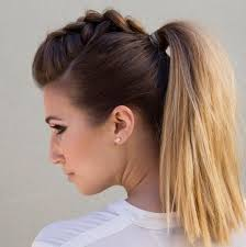 hair styles in two ponies braided ponytail hairstyles 40 cute ponytails with braids