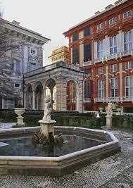 il cortile genova fontana in cortile genova l italia fotografia stock immagine
