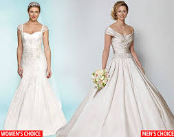 wedding day dresses it s the wedding day frock men would choose a meringue while