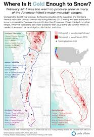 Map Of Oregon And Washington by Infographic Too Warm To Snow In California Oregon And