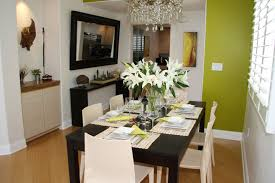 natural green nuance of the modern small condo interior design