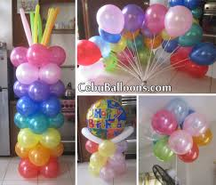 balloon arrangements for birthday colorful balloon decoration for a manager s birthday cebu