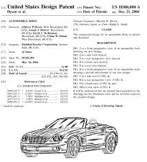 uspto issues design patent number 500 000 for chrysler convertible