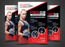 fitness flyer template fitness flyer flyer templates by afzaalgraphics on