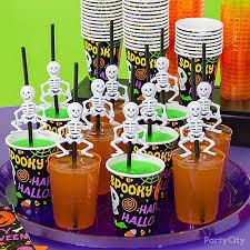 Kids Party Food Ideas Buffet by Kid Friendly Skeleton Straws Drink Idea Kid Friendly Halloween