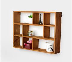 etageres bureau creux en bois étagère murale supports et racks de stockage de bureau