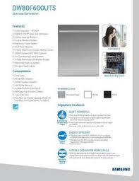 Samsung Dw80f600uts Dishwasher Reviews Samsung 24