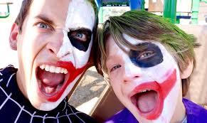 boys joker halloween costume joker boy vs two face joker real life superhero movie youtube