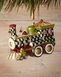 mackenzie childs choo choo ornament