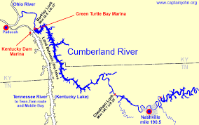 map kentucky lakes rivers cruising the cumberland river