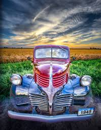 Vintage Ford Truck Seats - 1945 dodge half ton pickup truck classic car photography by