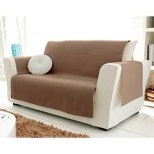 fauteuil canape protège fauteuil et canapé universels becquet taupe becquet