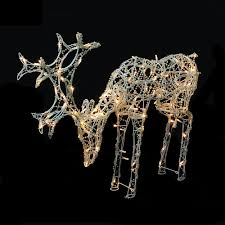 outdoor christmas deer with lights sacharoff decoration