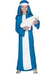 mother mary costume kids xmas christmas fancy dress costume