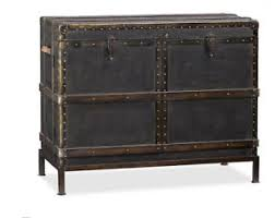 Trunk Bar Cabinet Pottery Barn Ludlow Trunk Bar Cabinet With Removeable Wine Rack