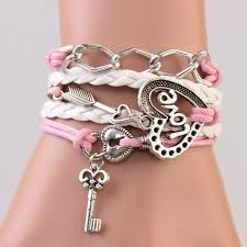 girl with bracelet images Love key secret fashion pink girl bracelet on luulla