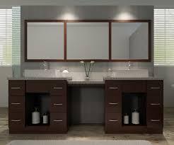 bathroom black wooden bathroom vanity with makeup table having