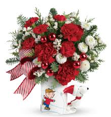 holiday gift guide charlie brown christmas gifts from teleflora
