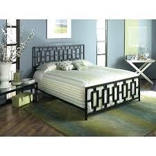 White Metal Kingsize Bed Frame Metal King Size Headboard Senalka