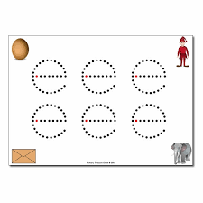 e u0027 lowercase letter formation activity join the dots 6 per a4