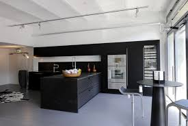 Black Modern Kitchen Cabinets Impressive Grey Wall Modern Ikea Kitchens With White Table Beside