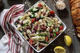 pasta slad mediterranean pasta salad vegan gf vegan huggs