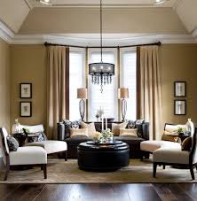 Living Room Curtains Traditional Glorious Round Black Ottoman Living Room Traditional With Yellow