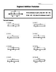 Segment Addition Postulate Worksheet Segment Addition Postulate Worksheet Free Worksheets Free