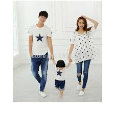 2015 family matching family fashion pack cotton set family