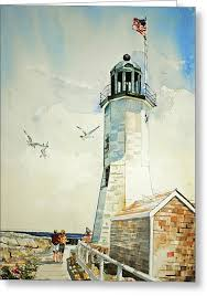 scituate lighthouse greeting cards america